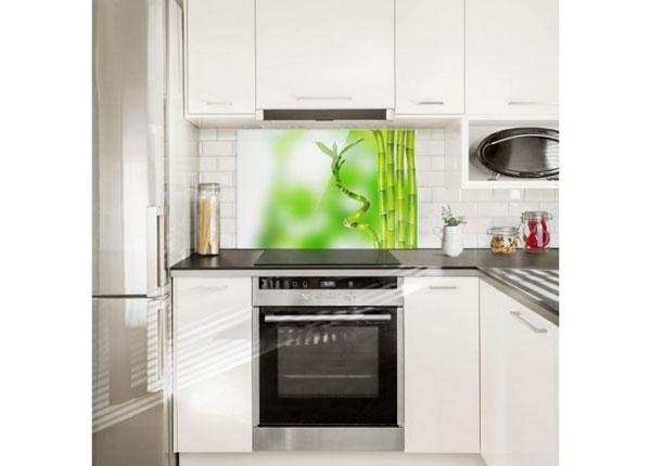 Fotoklaas, köögi tagasein Green bamboo 11, 40x60 cm