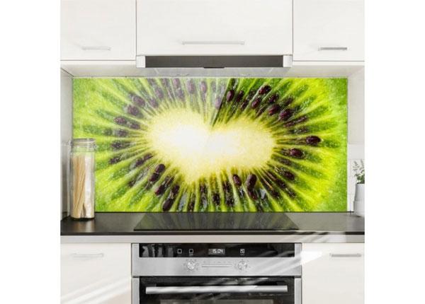 Fotoklaas, köögi tagasein Kiwi Heart 40x60 cm
