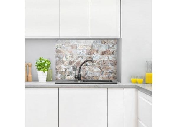 Fotoklaas, köögi tagasein Natural Marble Stone Wall 40x60 cm