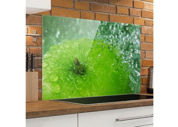 Fotoklaas, köögi tagasein Green Apple 40x60 cm
