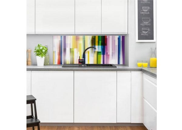 Fotoklaas, köögi tagasein Rainbow Cubes 1, 40x100 cm