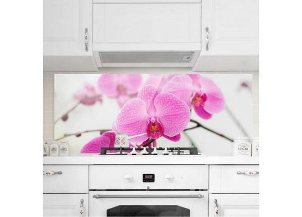 Fotoklaas, köögi tagasein Close Orchid 40x100 cm