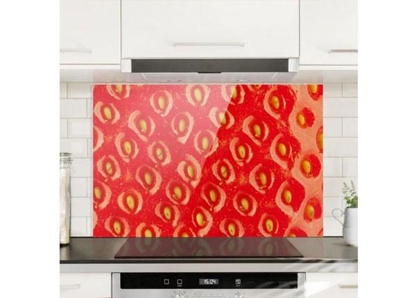 Fotoklaas, köögi tagasein Strawberry Structure 40x60 cm