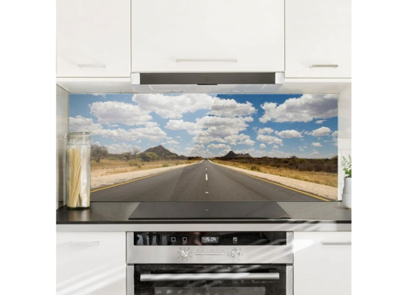 Fotoklaas, köögi tagasein Route 66, 40x100 cm