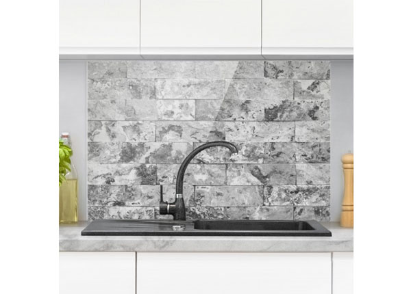 Fotoklaas, köögi tagasein Stone Wall Natural Marble Grey 59x60 cm ED-130086