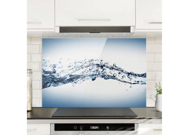 Fotoklaas, köögi tagasein Water Splash 50x125 cm ED-130135
