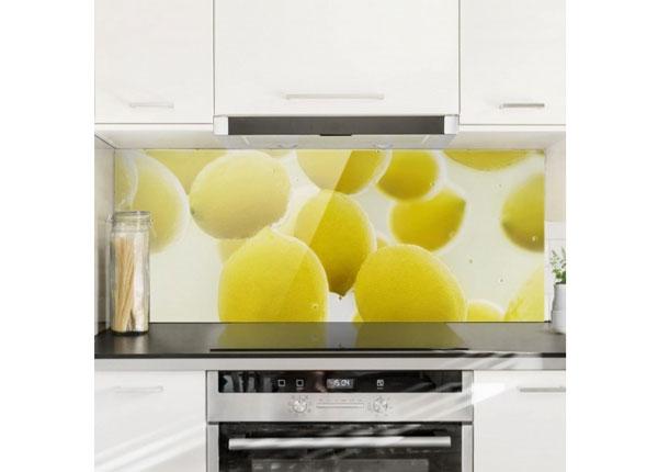 Fotoklaas, köögi tagasein Lemon In The Water, 40x100 cm ED-130156