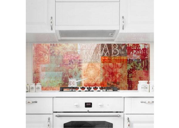 Fotoklaas, köögi tagasein Type Specimen, 40x100 cm