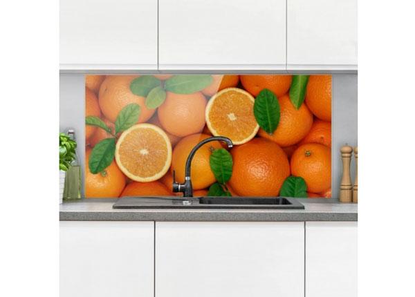 Fotoklaas, köögi tagasein Juicy Oranges 40x80 cm ED-130430
