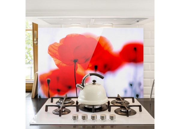 Fotoklaas, köögi tagasein Magic Poppies 1, 40x60 cm