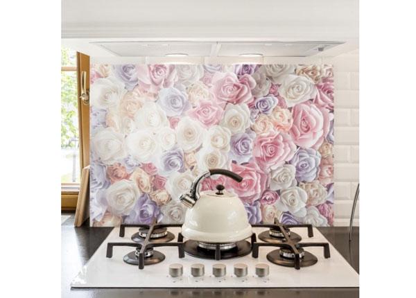 Fotoklaas, köögi tagasein Pastel Paper Art Roses 1, 40x60 cm