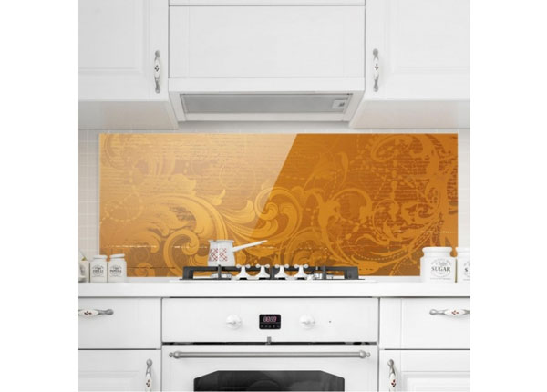 Fotoklaas, köögi tagasein Golden Baroque 40x100 cm