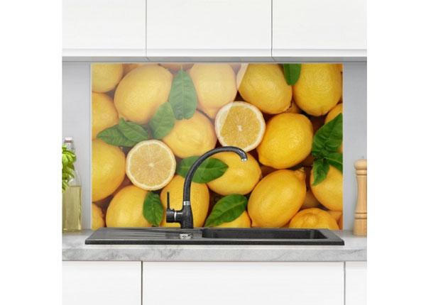 Fotoklaas, köögi tagasein Juicy Lemons 40x60 cm