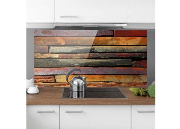 Fotoklaas, köögi tagasein Stack of Planks 40x60 cm