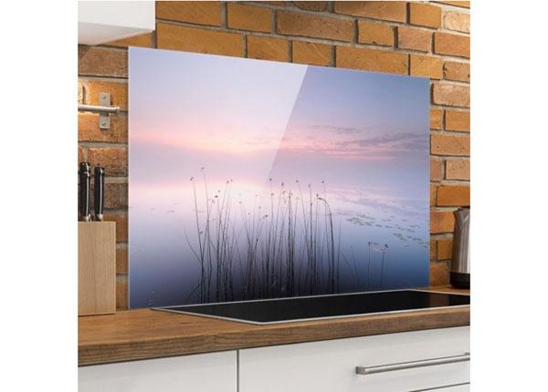 Fotoklaas, köögi tagasein Idyll On The lake 40x60 cm