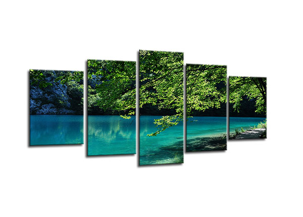 Viieosaline seinapilt Lake nature 100x50 cm ED-130556