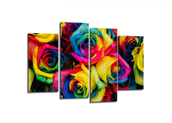 Neljaosaline seinapilt Roses 80x130cm ED-130561