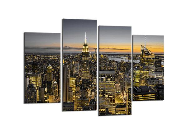 Neljaosaline seinapilt New York Skyline 80x130 cm ED-130563