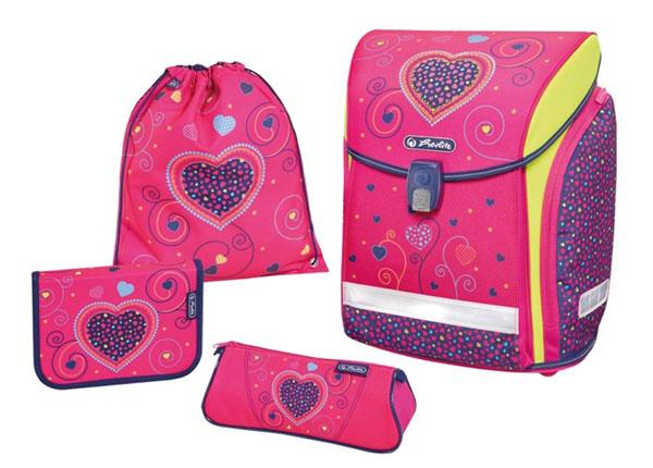 Ranitsakomplekt Herlitz New Midi Plus Pink Hears BB-131003