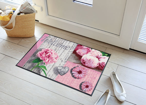 Uksematt Romantic Wood Patch Rose 50x75 cm A5-131022
