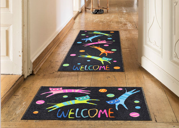 Vaip Jumping Cats Welcome 75x190 cm A5-131025