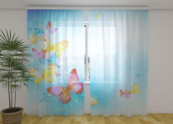Šifoon-fotokardin Butterfly in the sky 240x220 cm