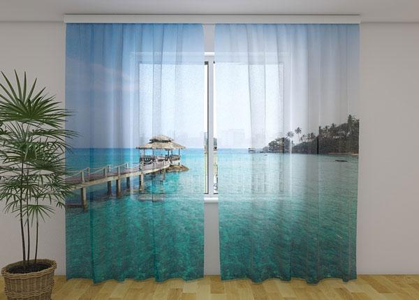 Šifoon-fotokardin Paradise island 240x220 cm ED-131465