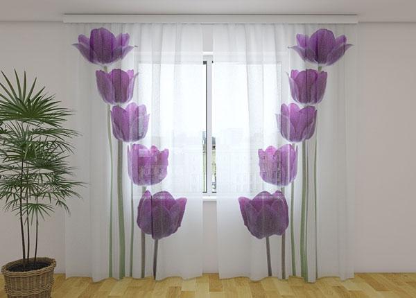 Šifoon-fotokardin Spring tulips 240x220 cm ED-131505