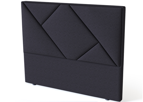 Sleepwell voodipeats Geometry BLACK 120 cm SW-132133