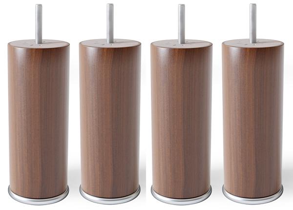 Ümmargused puitjalad metallist servaga 15 cm SW-132180