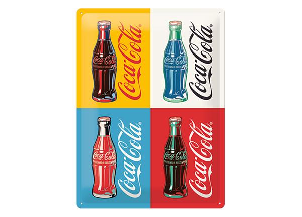 Retro metallposter Coca-Cola Pop Art 4 pudelit 30x40 cm SG-132746