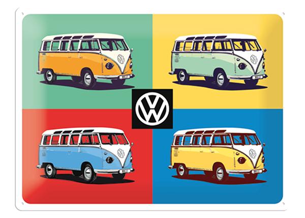 Retro metallposter VW Bulli Pop Art 4 autot 30x40 cm SG-132753