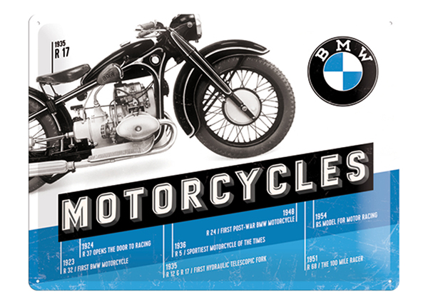 Retro metallposter BMW Motorcycles R 17 30x40 cm SG-132755