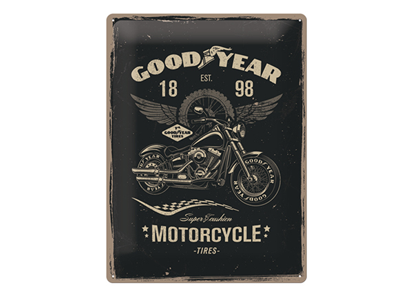 Retro metallposter GoodYear Motorcycle 30x40 cm