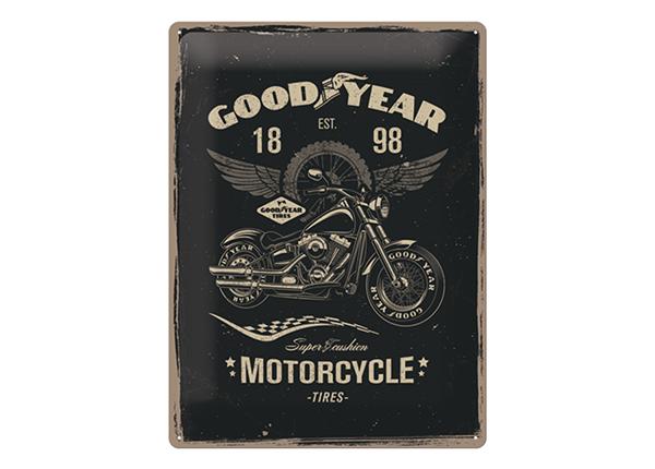 Retro metallposter GoodYear Motorcycle 30x40 cm SG-132759