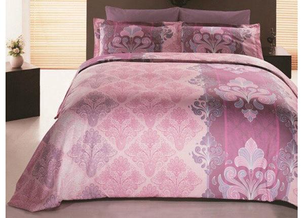 Satiinist voodipesukomplekt 2 tekikotiga Embro Pembe 160x220 cm AÄ-132978