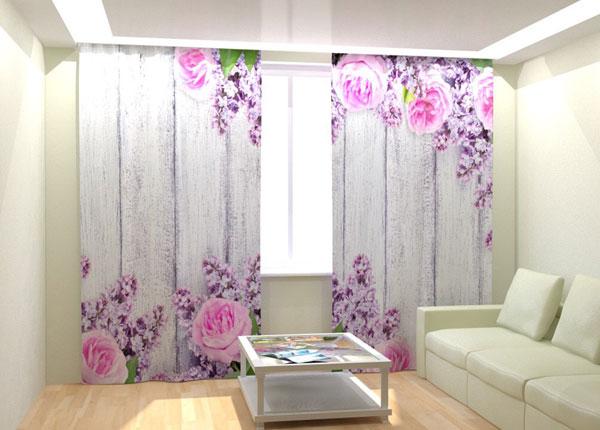 Fotokardinad Pink Flowers 300x260 cm AÄ-132994