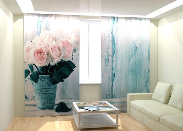 Fotokardinad White Roses 300x260 cm AÄ-133001