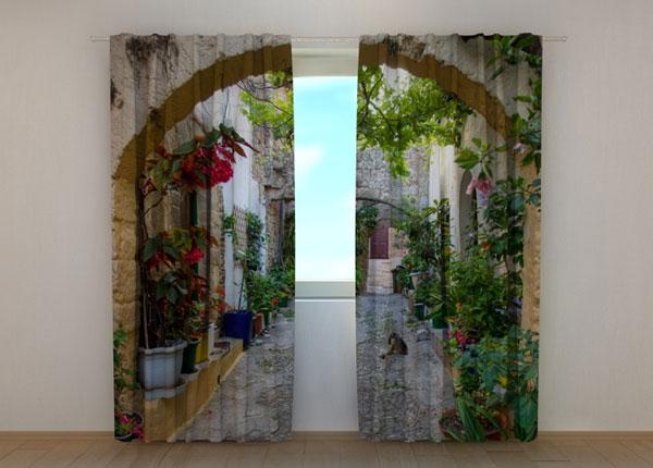 Läbipaistev kardin Arches in Flowers 240x220 cm ED-133710