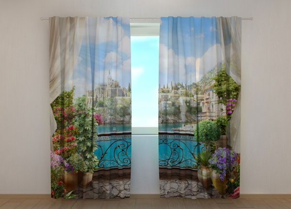 Poolpimendav kardin Balcony with flowers 240x220 cm ED-133756