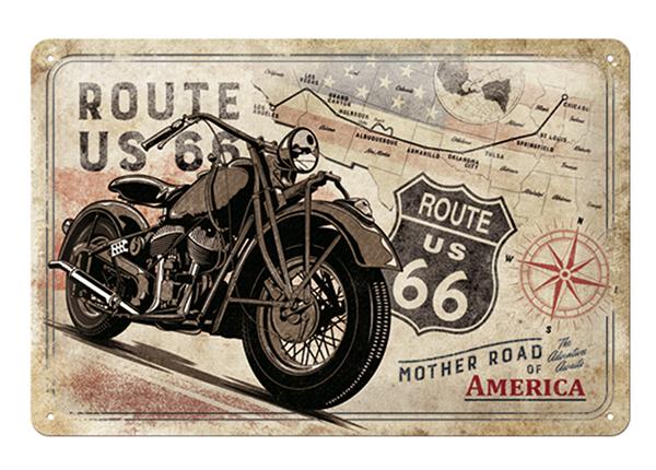 Retro metallposter Route 66 Mother Road of America 20x30 cm SG-133789
