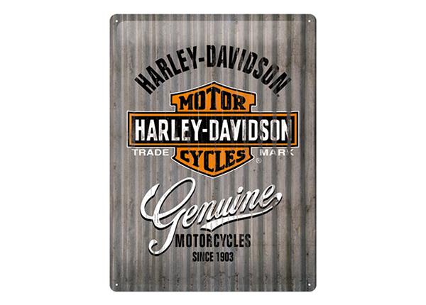 Retro metallposter Harley-Davidson Genuine lI 30x40 cm SG-133793