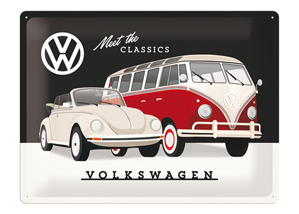 Retro metallposter VW Meet the Classics 30x40 cm SG-133794