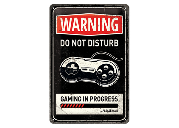 Retro metallposter Gaming in Progress 20x30 cm SG-133817