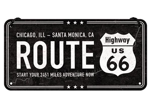 Retro metallposter Route 66 10x20 cm SG-133820