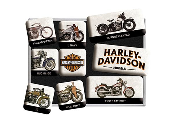Retro magnetid Harley-Davidson models 9 tk SG-133836