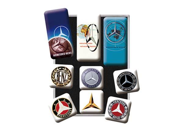 Retro magnetid Mercedes-Benz logod 9 tk SG-133837
