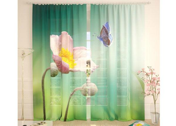 Tüllkardinad Flower and Butterfly 290x260 cm AÄ-134090