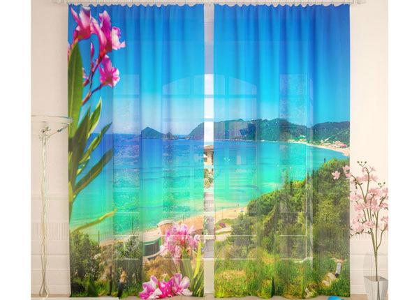 Tüllkardinad Blue Beach 290x260 cm AÄ-134096