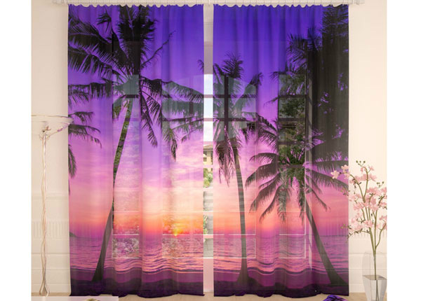 Tüllkardinad Purple Sunset 290x260cm AÄ-134099